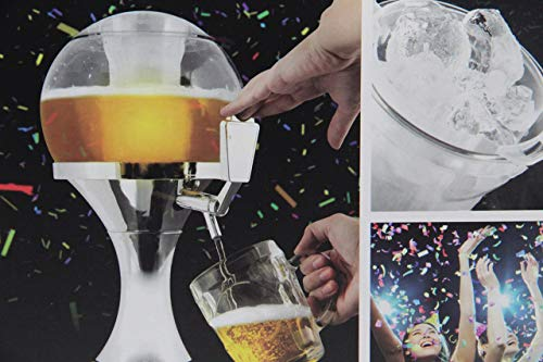 InnovaGoods | Ball Dispensador de cerveza refrigerante, PMMA | Plateado