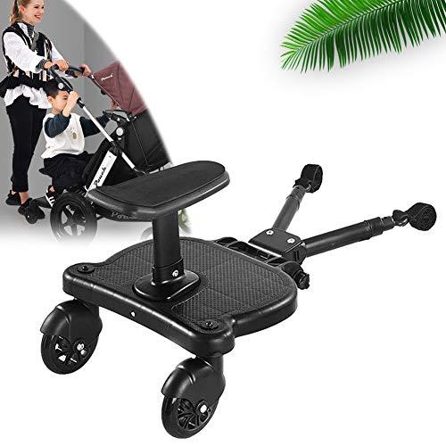 EnweNge Kiddy Boards für Kinderwagen, Kinderbuggy Trittbrett mit Zusatzsitz, Sitz Kiddy Board Trittbrett für Kinderwagen Rollbrett Buggyboard