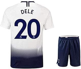 ZXAOYUAN DELE Alli #20 Men's Home Soccer Jersey & Short Kit White