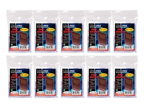 20 Pack Lot of 100 Soft Sleeves/Penny Sleeve for Baseball Cards & Other Sports Cards (Packaging May Vary)
