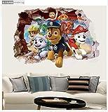WYLD Wandaufkleber 3D Ryder Paw Patrol Anime Wandtattoos Hund 3D Vinyl Aufkleber Für Kinderzimmer Dekoration Baby Lieblings Poster