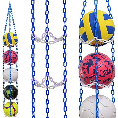 Vailantes Colgador de pelotas – Fútbol, voleibol, baloncesto, original, para decoración de la habitación de los niños
