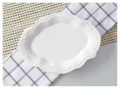 Plato de cena Bandeja de plato de buffet de porcelana en relieve...