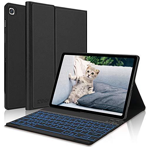 KVAGO Custodia con Tastiera Italiano per Samsung Galaxy Tab S5e 10.5 2019 Tablet,Cover Sottile Leggera con Tastiera Bluetooth Retroilluminato Staccabile per Galaxy Tab S5e 2019(SM-T725 SMT720) -Nero