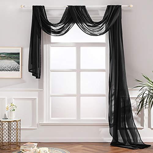 MIULEE Luxury Window Scarf Sheer Vo…