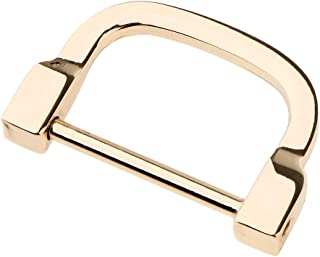 F Fityle DIY Handmade Metal Detachable Screw D-ring Buckle Handle Bag Handcraft Accessories
