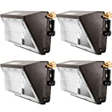 LED Wall Pack Light Photocell Dusk-to-Dawn Waterproof 100w 120-277V 5000k Daylight,Outdoor Entrance 4PK