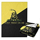 Dont Tread On Me Warm Throw Blanket Ultra-Soft Micro Fleece Blanket for Bed Couch Living Room