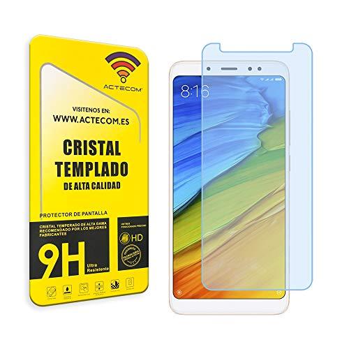 actecom® Protector Pantalla para XIAOMI REDMI Note 5 / REDMI Note 5 PROCRISTAL Vidrio Templado