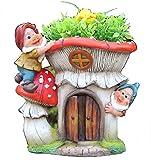 Design XL Zwerg mit Blumentopf 91187-2 27 cm Hoch Deko Garten Gartenzwerg Figuren Dekoration