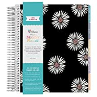 Erin Condren 2019 12 Month (Jan 2019 - Dec 2019) Deluxe Monthly Planner (7x9) Daisies Signature (80 notepages) Colorful