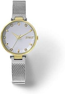Zyros Watch for Women, Analog, Metal - ZAA144L060611