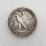 MOMOKY Copy 1916-S US Half Dollar Antique Commemorative Coin-America Collection Liberty&Eagle 50 Cents Coin Morgan Silver Dollar Replica Discovery Collection