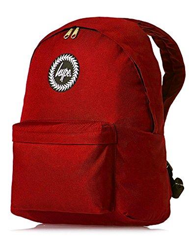 Hype Unisex Rucksack - für Schule, Freizeit - Plain Rot