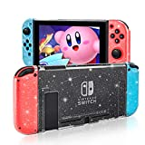 DLseego Dockable Crystal Case Compatible with Nintendo Switch, Glitter Bling Cover with Shock-Absorption and Anti-Scratch Design Protective Case - Crystal Glitter