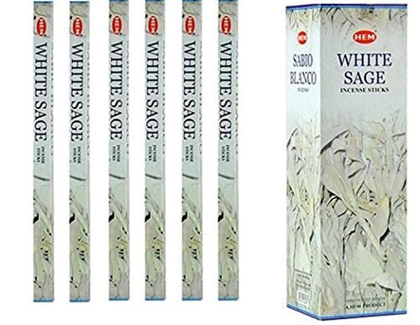 相談前件仲人インドHemホワイトセージ香6パックX 8スティック、Wicca Pagan 8?Gm正方形ボックス