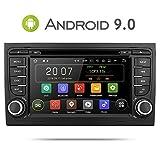 Aumume Android 9.0 Autoradio con Pantalla Táctil para Audi A4 / S4 con Navi, Compatible con Reproducción Autoplay Mirrorlink Bluetooth Dab WiFi (con Tarjeta de 16 GB)