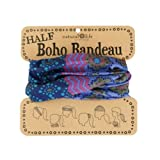 Natural Life Half Boho Bandeau, Purple/Teal/Blue Stripe