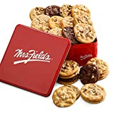 Mrs. Fields Cookies Two Full Dozen Signature Cookie Tin (24 Count) Includes 5 Different Flavors - Perfect Gift for any Holiday or Occasion