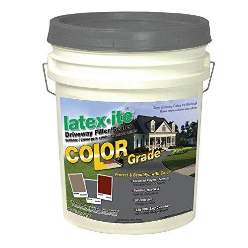 Latex-ite 4.75 Gal. Color Grade Blacktop Driveway Filler/Sealer in Dover Grey