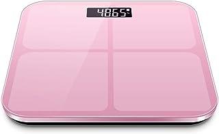 DaMuZ Báscula Inteligente Grasa Corporal Modelos de Batería Báscula de Baño Antideslizante Pantalla LCD Digital Cristal Templado Apagado Automático Báscula Personal Electrónica para Casa