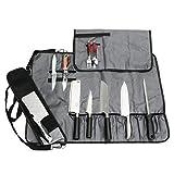JURONG Bolsa para cuchillos de chef con 17 compartimentos, para guardar...