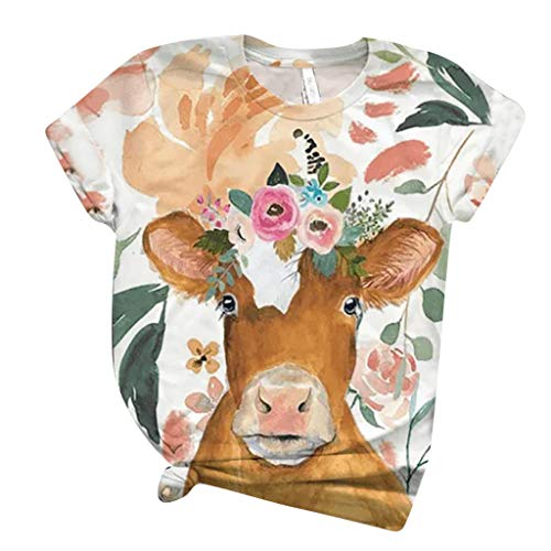 Fantastic Prices! BEAUTYVAN 3D Animal Printed Women Short Sleeve T-Shirt Plus Size Loose Casual Tee ...