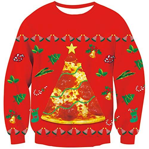 Goodstoworld Hässliche Weihnachtspullover Unisex Jungen Mädchen 3D Druck Lustige Pullover Weihnachten Sweater Ugly Christmas Sweater S