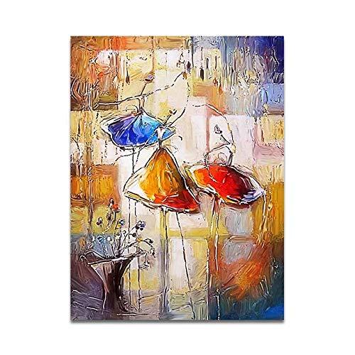 JHGJHK Pintura al óleo Abstracta de la Bailarina del Arte, Pintura Decorativa para la Sala de Estar y el Dormitorio (Imagen 2)