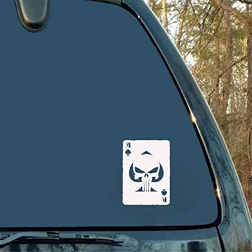 10,8 x 14,8 cm Ace Card Skull logo sticker voor autoaccessoires Helm Sticker Styling voor Kia Sportage Lexus Audi