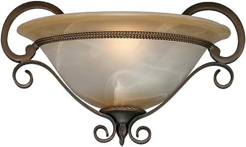 lowest Golden Lighting 3890-WSC discount GB Meridian Sconce, 15-Inch W by 9-Inch H, sale Golden Bronze online sale