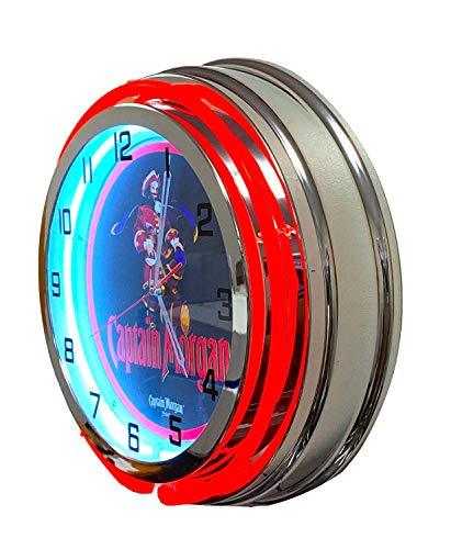 Captain Morgan Spiced Rum Neon Clock - 19 inch Diameter