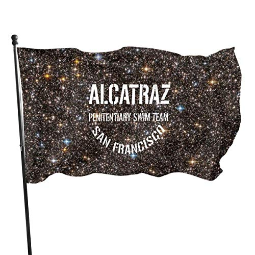 YUYUTE Bandiere di Party Garden Park Alcatraz Penitentiary Swim Team Garden Flag, Decorations for Home Decor House Yard Outdoor Party Supplies