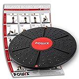 POWRX Balance Board Therapie Kreisel inkl. Workout I Wackel Brett