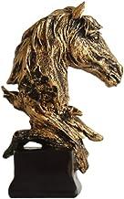 Mini Horse Head Figurine Statue Home Decoration Resin Sculpture Home Figurine Gift Ornament for Living Room Desktop Office...