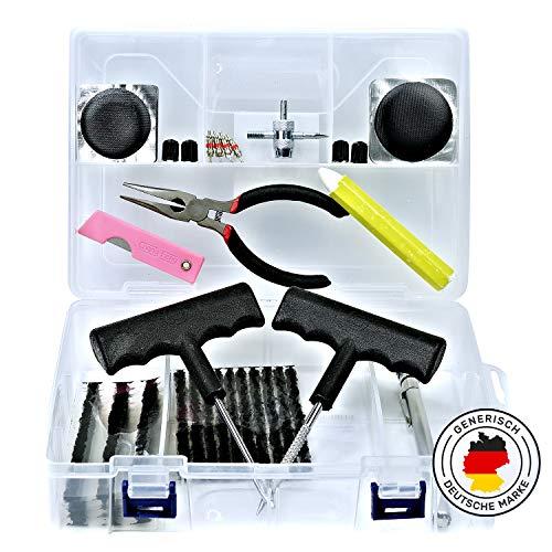 Generisch 50 TLG. Reifen Reparatur Set, Reifenreparaturset, Tire Repair Set, Reifenflickset, Reifendichtmittel für Auto Motorrad und Fahrrad