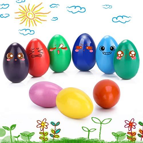 WOSTOO Wachsmalstifte für Kinder,Finger Buntstifte sicher und ungiftig Kleinkinder Wachsmalstifte Anzug 9 Colors Bunte Malerei Buntstifte Spielzeug fur Kleinkinder Ostergeschenk