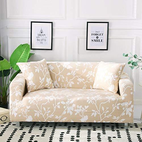 WXQY Funda de sofá elástica con Estampado Floral Estilo de línea Funda de sofá elástica para Sala de Estar Funda de sofá Todo Incluido sofá Toalla Funda de sofá A13 2 plazas