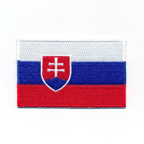 hegibaer 60 x 35 mm Slowakei Flagge Bratislava Flag Sport Aufnäher Aufbügler Patch 1014 B