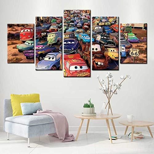 KWzEQ Cartel de Coche Lienzo de Arte Moderno Lienzo nórdico impresión Imagen niño Dormitorio decoración,Pintura sin Marco,30x40cmx2, 30x60cmx2, 30x80cmx1