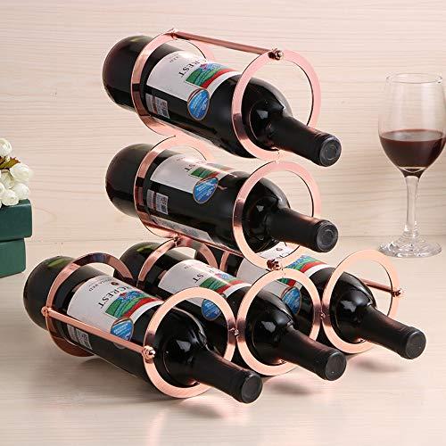 Desmontable Creativa Vino Rack Hierro Forjado Vino Estante Creativo Vino Rack Metal Artesanía Adornos