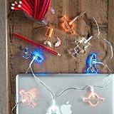 Lights4fun 12er LED Acryl Weltall Lichterkette batteriebetrieben