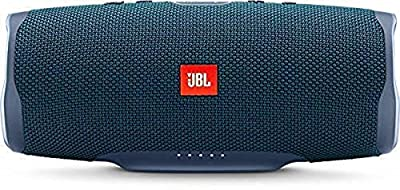 JBL Charge 4 Portable Bluetooth Speaker and Power Bank with Rechargeable Battery – Waterproof – Blue by JBL