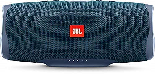 JBL Charge 4 Speaker Bluetooth Portatile, Cassa Altoparlante Bluetooth Waterproof IPX7, Con Microfono, Porta USB, JBL Connect+ e Bass Radiator, Fino a 20h di Autonomia, Blu