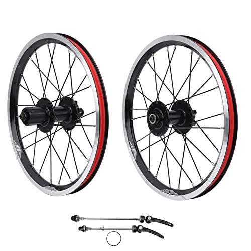 Juego de Ruedas de Bicicleta, Juego de Ruedas de Motocross Resistente y Duradero, aleación de Aluminio Compatible con 6 rodamientos de Clavos para Bicicleta de montaña con(Black)