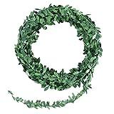 WINOMO Blätter Girland Künstliche Efeu Hängend Girlande 7.5m Künstliche Girlande Pflanzen Grüne Rebe Pflanz für Büro Küche Garten Party Wanddekoration