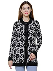 Matelco Floral Print Woollen Cardigan for Womens