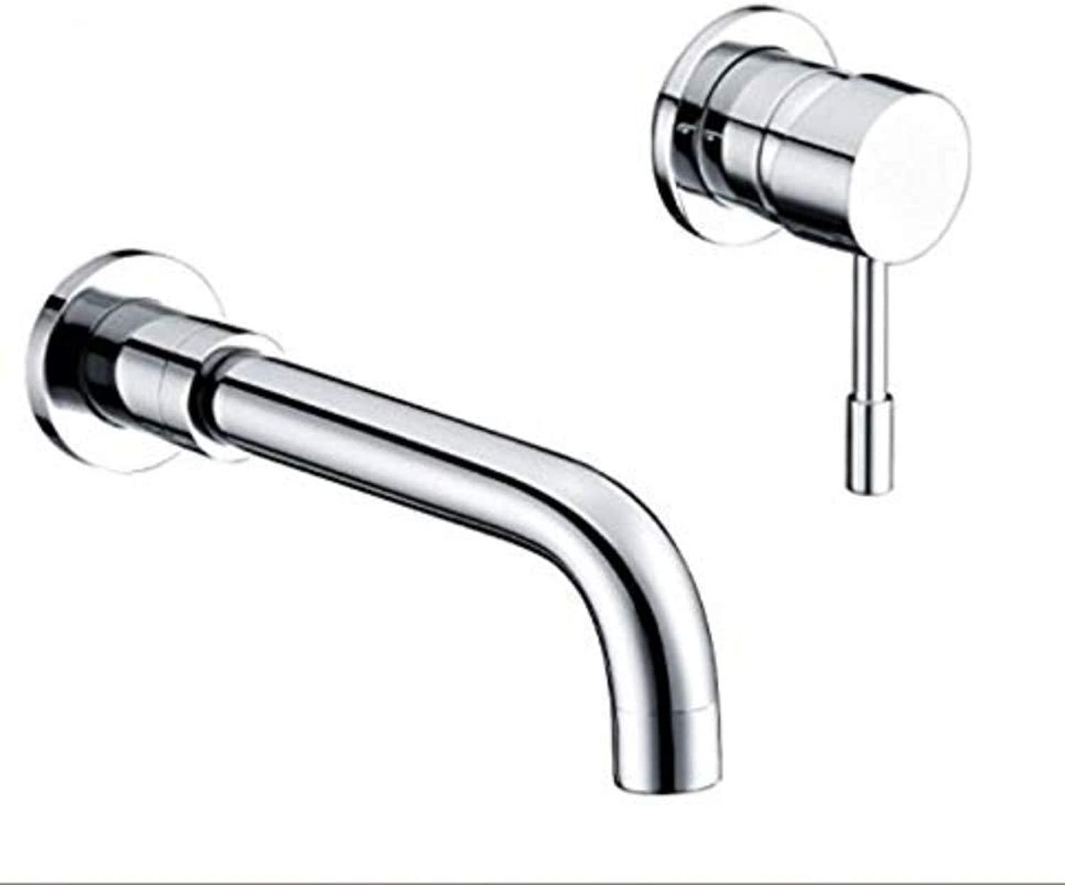 Basin Taps Swivel Spout Faucet Standard Bathroom Single Lever Chrome Wall Mounted Basin Sink Mixer Tap