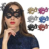 Masquerade Eye Mask for Women Luxury Lace Halloween Mask Venetian Eye Mask Carnival Mardi Gras Mask for Party Prom Ball Bar Costume Cosplay Vintage Mask Party Supplies,Phoenix Mask (6 Pack)