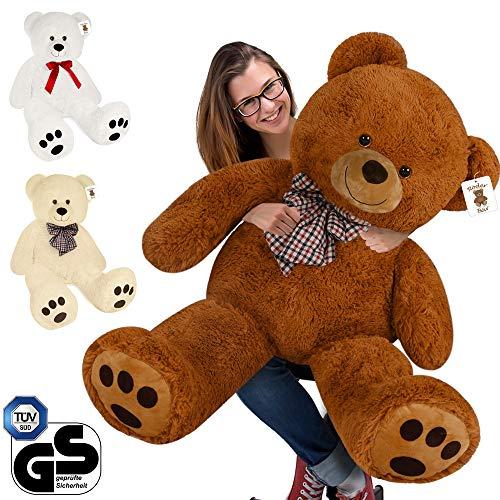 Deuba Riesen Teddy Bär XL-XXXL Teddybär 100-175cm samtig weich Plüsch Kuscheltier Plüschbär Farbwahl